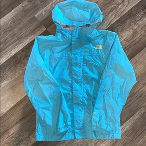 Girls North Face Raincoat, Size M 10-12